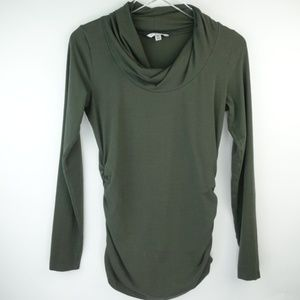 CAbi  Twist Cowl Neck Long Sleeves Top